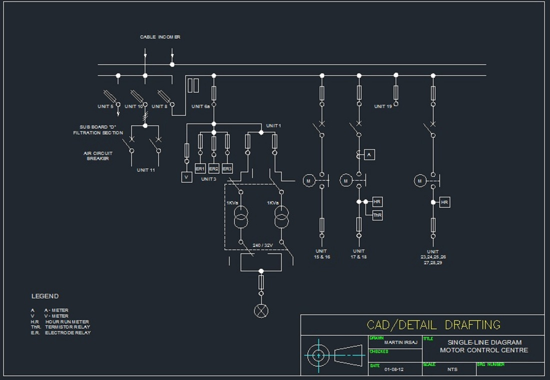 Sample Of Electrical Drawings